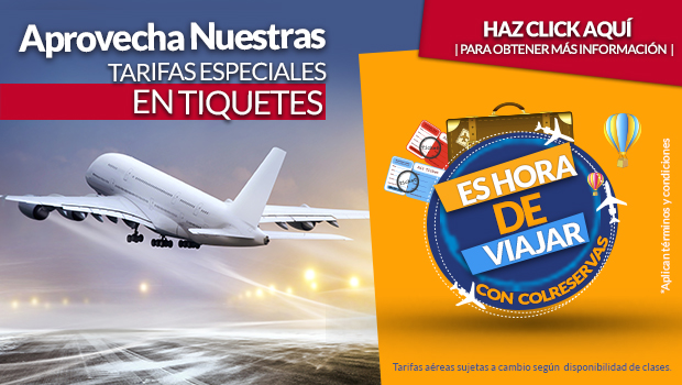 Tiquetes aéreos en oferta